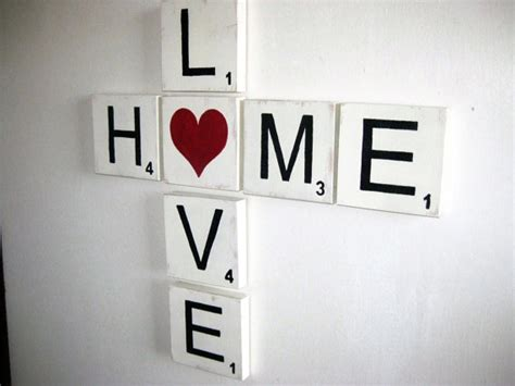 items similar to large scrabble letters home sign love
