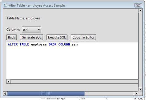 ms access drop column   ms access  table