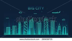 Set Indian Cities Skylines Mumbai Delhi Stock Vector ...
