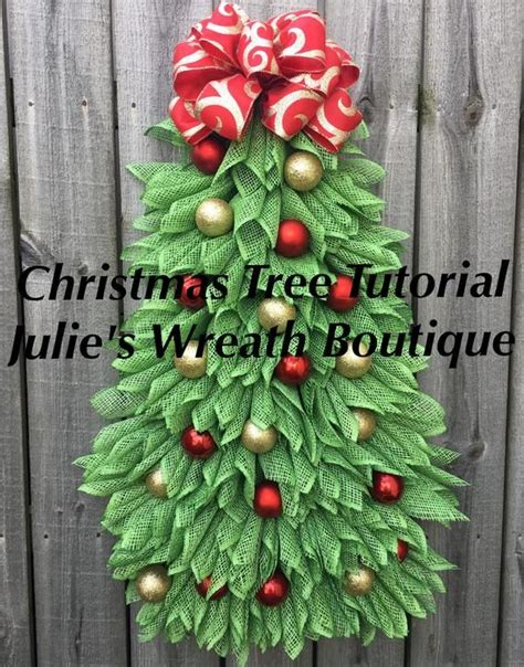christmas tree tutorial diy christmas wreath tutorial