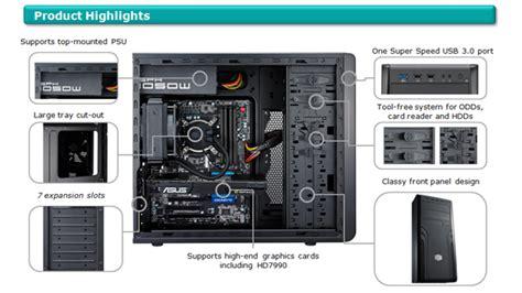 cabinet cooler master force 500 cooler master cm force 500