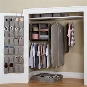 Better, Homes, U0026, Gardens, 5-piece, Closet, Organizer, Set, Gray, -, Walmart, Com