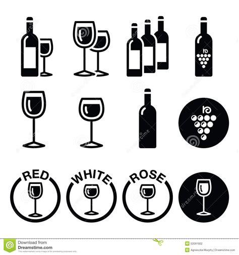 pictogramme cuisine gratuit wine types white icons set stock illustration
