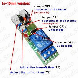 5v 12v 24v Infinite Cycle Delay Time Timer Relay Turn On
