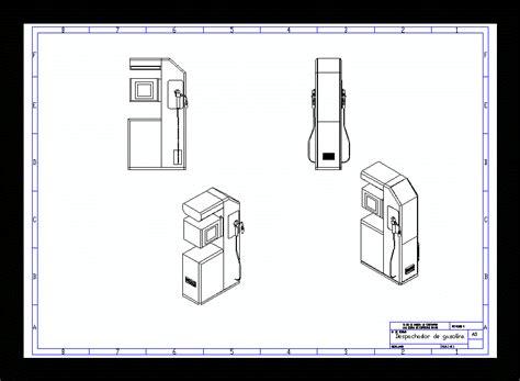 dispense autocad gasoline dispenser in autocad cad free 247 33