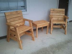 How To Build 2 Outdoor Arm Chairs And A Side Table Jays
