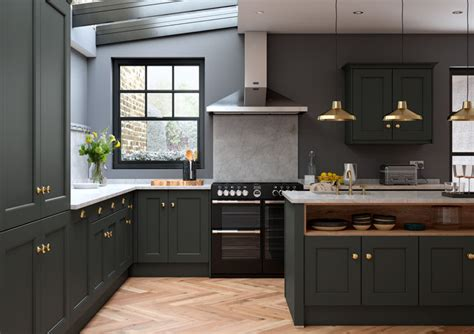 allestree bespoke painted kitchen  impressions