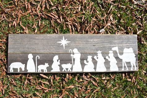 items similar to nativity painting on wooden panel sceene on etsy