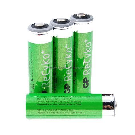 gp recyko rechargeable 1 2v quot 2050mah quot aa rechargeable
