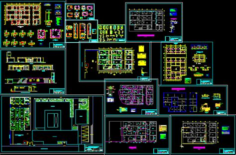 laboratory  dwg full project  autocad designs cad