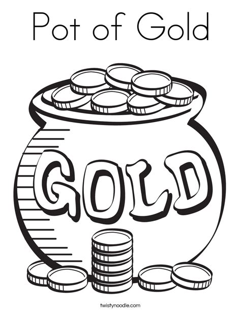 pot of gold line pot of gold coloring page twisty noodle
