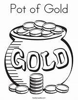 Pot Coloring Gold Built California Usa sketch template