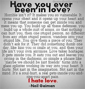 Information About I Hate That I Love You Quotes And Sayings