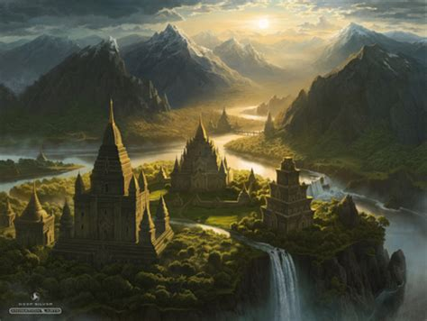 secret lands fantasy abstract background wallpapers