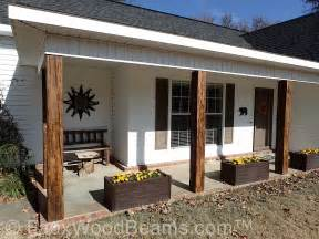 Decorative Wood Porch Post Faux Wood Workshop Front Porch Ideas Style For Ranch Home