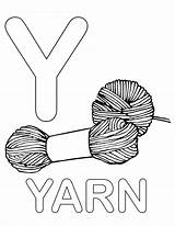 Coloring Letter Yarn Lowercase Alphabet Printable Uppercase Yak Upper Template sketch template