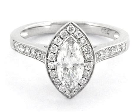 1.20 Carat Marquise Halo Diamond Engagement Ring Hd004