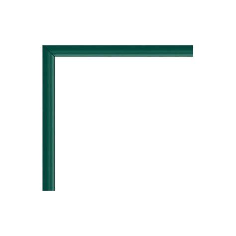 cadre photo sur mesure en aluminium vert avec plexiglas et dos sur cadre photo eu