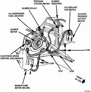 Where Is The 87 Corvette Blower Motor Relay Located  It Is
