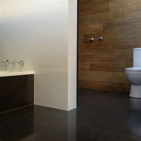 bathroom timber ceramic tile feature wall out