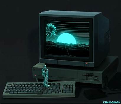 Kidmograph Computer Gifs Retro Animated Wonderful Wireframe