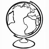Mappamondo Globus Dibujos Flashcard Clipartmag Momjunction sketch template