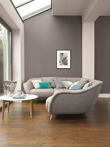 affordable, colorful, furniture, in, sleek, interior, design, with, grey, theme