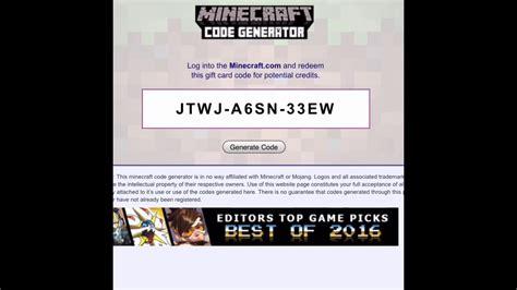 minecraft codes generator  survey working