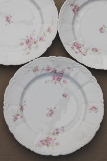 antique embossed porcelain dinner plates set weimar