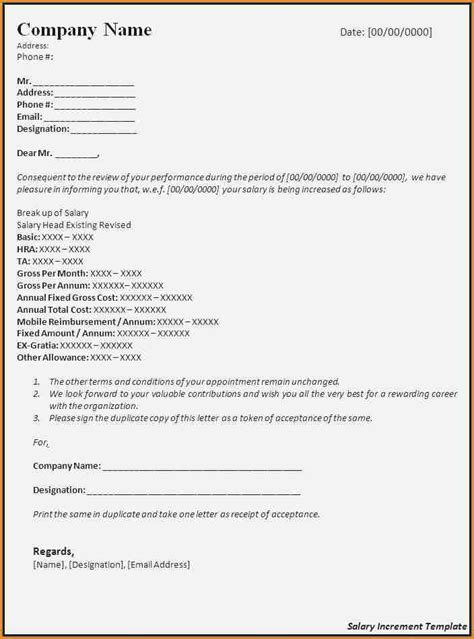 salary increase letter format employee simple salary slip