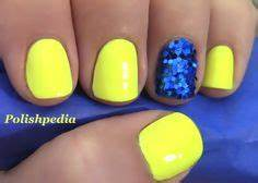 Neon Blue Nails on Pinterest