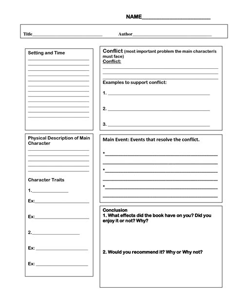 4th grade book report outline - Google Search | Crafts for