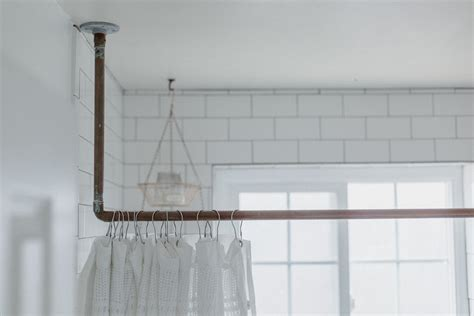 Diy Copper Pipe Shower Curtain Rod Shower Curtain New Car Smell Making Curtains From Sheets Striped Pencil Pleat Bay Window Ceiling Hung Pole Tropical And Accessories Cafe For Kitchen Install Rail Where To Find Rods