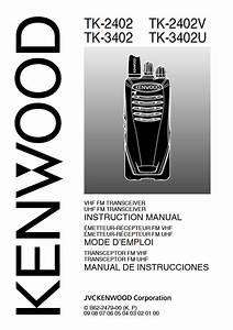 Mode Demploi Kenwood Thk2