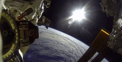 astronaut spacewalk gif  nasa find share  giphy