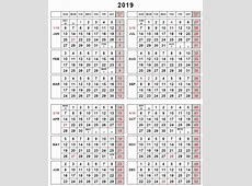Printable 2017 Calendar With Week Numbers And Julian Days