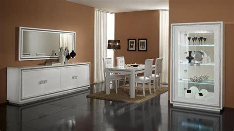 buffet cuisine fly miroir de salle à manger rectangulaire design laqué blanc perla miroir autres meubles