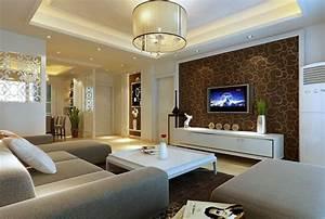 wandfarbe braun 31 wohnzimmer ideen With balkon teppich mit braune tapeten wohnzimmer