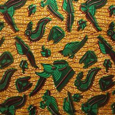 Green And Brown Crevettes Ankara Fabric Urbanstax