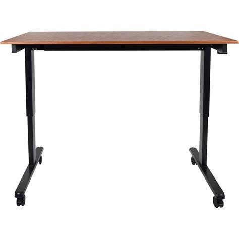 luxor stand up desk luxor 60 quot crank adjustable stand up desk standcf60 bk tk