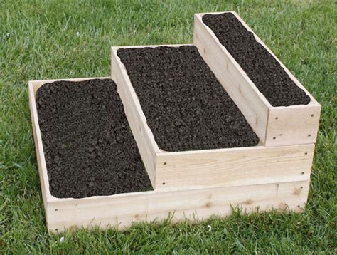 Raised Planters by Cedar Planter Raised 3 Tier Planter Bed Free Shipping