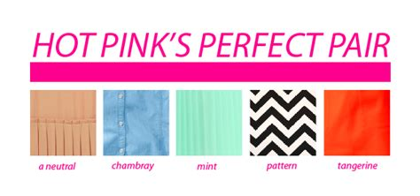 what colors go with pink how to wear it hot pink say yes