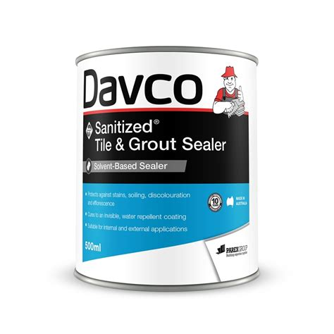 tile grout sealer davco 500ml sanitized tile and grout sealer bunnings