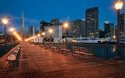 Francisco San Wallpapers California Street Pier Usa