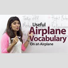 On An Airplane  English Vocabulary Lesson Youtube