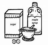 Maple Syrup Coloring Sugaring Milk Coloringkidz sketch template