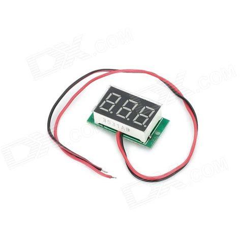 0 36 quot 3 digit blue light 7 segment voltmeter module