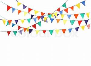 Bunting flags made with watercolor vector Stock Vector