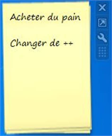 post it sur bureau windows 7 post it gadget pour windows seven