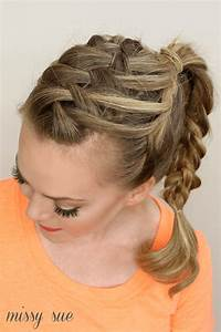 Triple French Braid Double Waterfall Ponytail